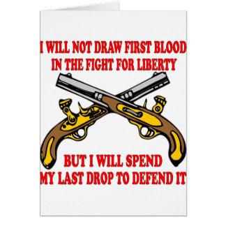 No dibujaré la primera sangre en la lucha tarjeta de felicitación