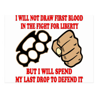 No dibujaré la primera sangre en la lucha tarjetas postales