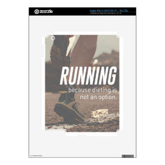 No Diet Just Running Runners Decals For iPad 3