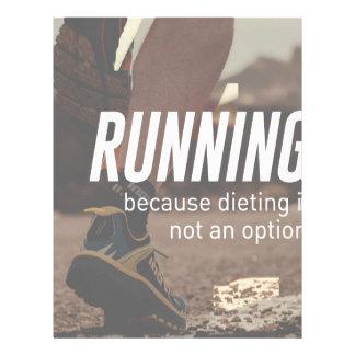 No Diet Just Running Runners Letterhead