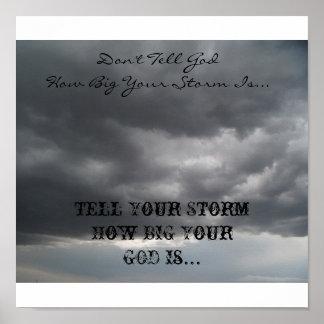 No diga a dios… póster