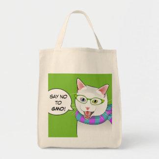 No diga NINGÚN bolso de compras del gato de Doofus Bolsa Tela Para La Compra