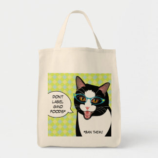 No diga NINGÚN bolso de compras del gato del Bolsa Tela Para La Compra