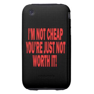 No digno de él tough iPhone 3 funda