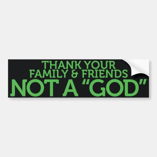 No dios etiqueta de parachoque