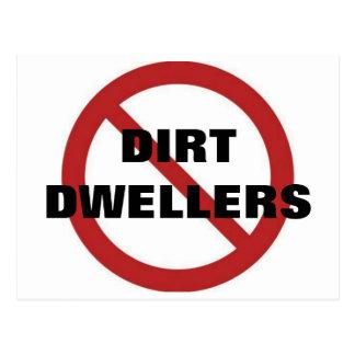 No dirt dwellers postcard