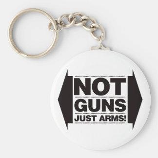 No dispara contra apenas los brazos llaveros personalizados