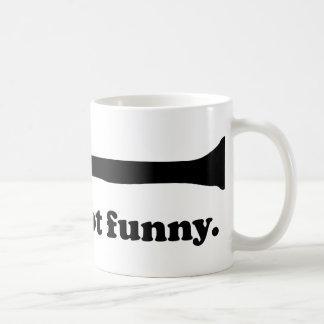 No divertido taza básica blanca