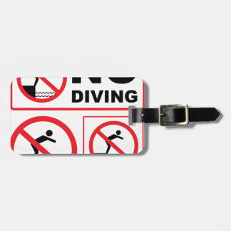 No Diving Sign Luggage Tag