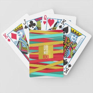 No doble el fondo atado divertido baraja de cartas