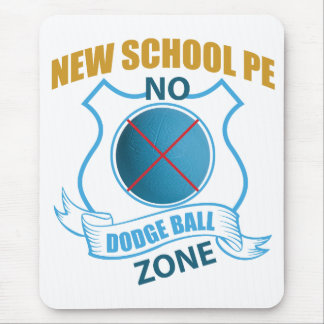 No Dodgeball Zone- Ball with X Mouse Pad