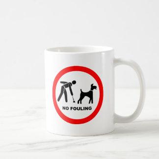 No Dog Fouling Symbol Coffee Mug