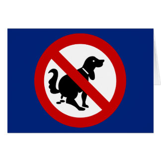 NO Dog Fouling ⚠ Thai Sign ⚠ Greeting Card