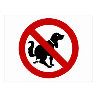NO Dog Fouling ⚠ Thai Sign ⚠ Postcard