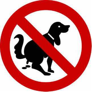 NO Dog Fouling ⚠ Thai Sign ⚠ Statuette