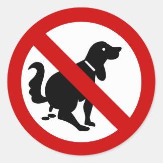 NO Dog Fouling ⚠ Thai Sign ⚠ Classic Round Sticker