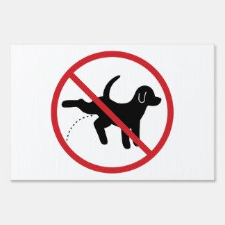 No Dog Peeing Yard Sign