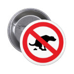 'No dog shit' buttons