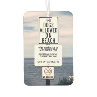 No Dogs Allowed On Beach Air Freshener