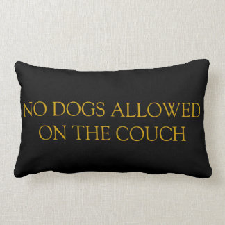 No Dogs Allowed On The Couch Pillow