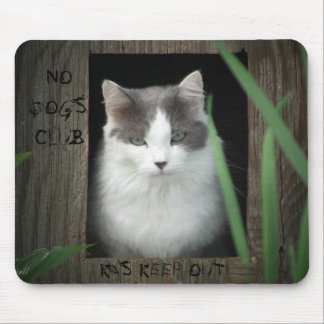 No Dogs Club Mouse Pad