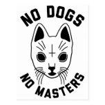 No Dogs No Masters Postcard