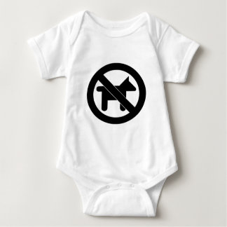 No Dogs please Baby Bodysuit