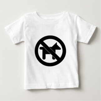 No Dogs please Baby T-Shirt
