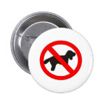 No Dogs Sign 2 Inch Round Button