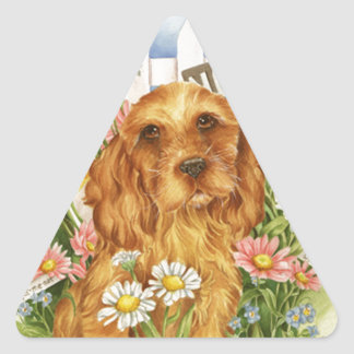 No dogs! triangle sticker