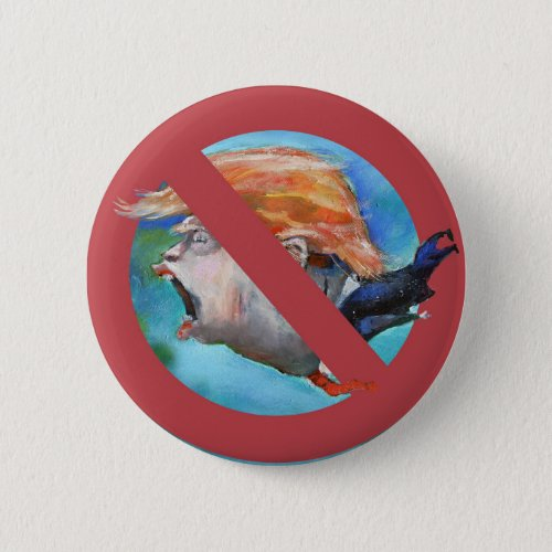 No Donald Trump Button aka The Bottom Feeder