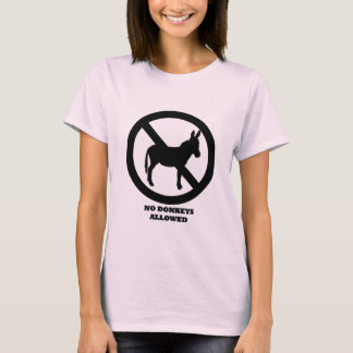 No Donkeys Allowed - Women's Pink T-Shirt