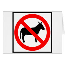 No Donkeys Highway Sign