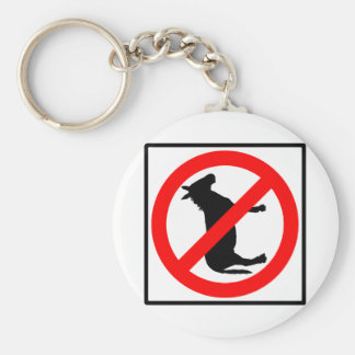 No Donkeys Highway Sign Key Chain