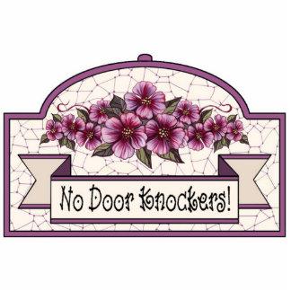 """No Door Knockers"" - Decorative Sign - 10 Cutout"
