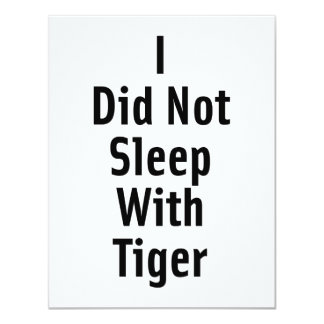 """No dormí con el tigre invitación 4.25"""" x 5.5"""""""