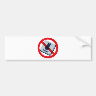 NO_download Bumper Sticker