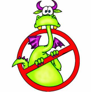 No Dragons Allowed Symbol Statuette