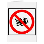 No Dragons Highway Sign Card