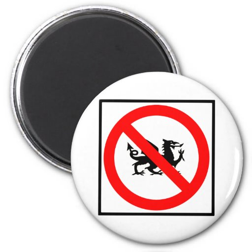 No Dragons Highway Sign Magnets
