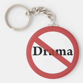 No Drama Allowed! Basic Round Button Keychain