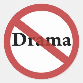 No Drama Allowed! Classic Round Sticker