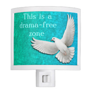No Drama Allowed Peace Dove Night Light