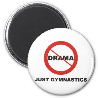 No Drama Just Gymnastics 2 Inch Round Magnet