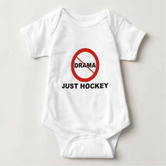 No Drama Just Hockey Baby Bodysuit
