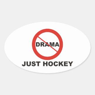 No Drama Just Hockey Oval Sticker