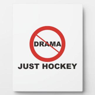 No Drama Just Hockey Photo Plaque
