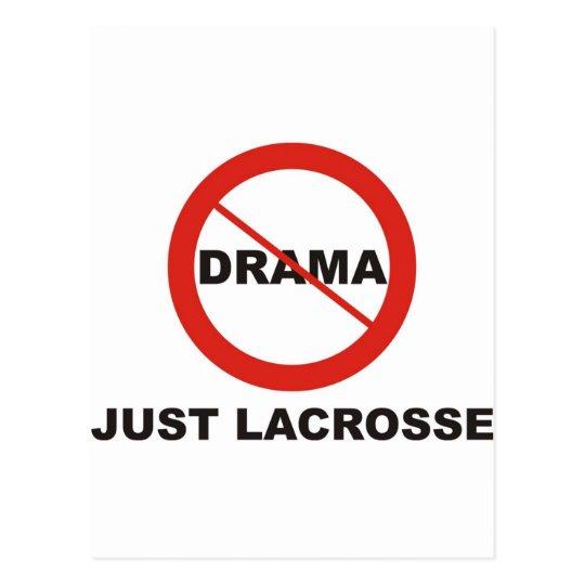 No Drama Just Lacrosse Postcard