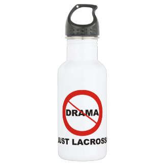 No Drama Just Lacrosse Stainless Steel Water Bottle