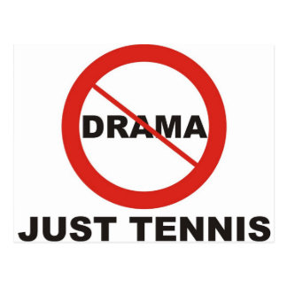 No Drama Just Tennis Post Cards